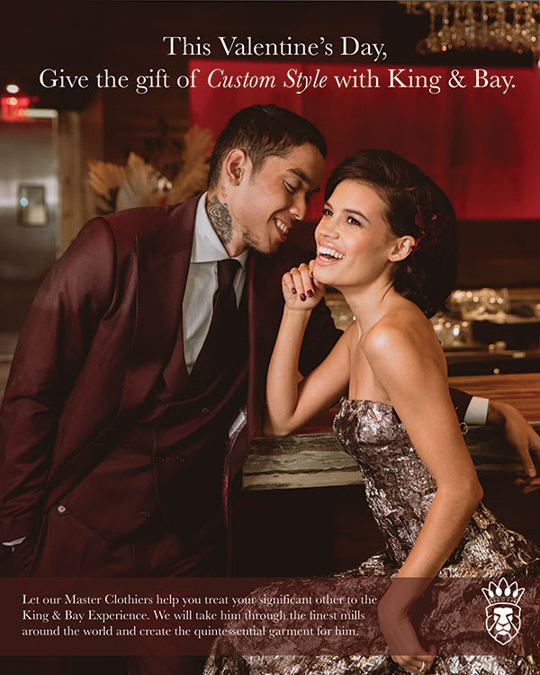Celebrate Valentines Day with Custom Mens Clothing from King & Bay