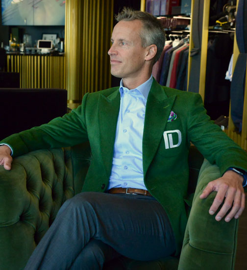 Chad Alderson in a King & Bay Custom Suit
