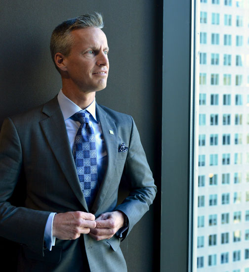 Chad Alderson, Custom Business Suit, Toronto
