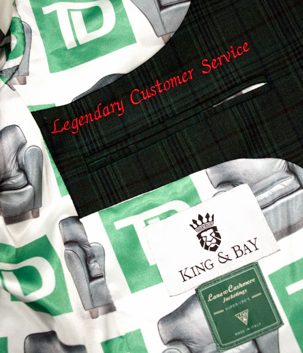 Custom Linings, King & Bay Custom Mens Clothing