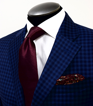 Check Pattern Suit, Mens Custom Suits, King & Bay