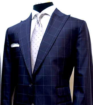 Windowpane Pattern Suit, Mens Custom Suits, King & Bay