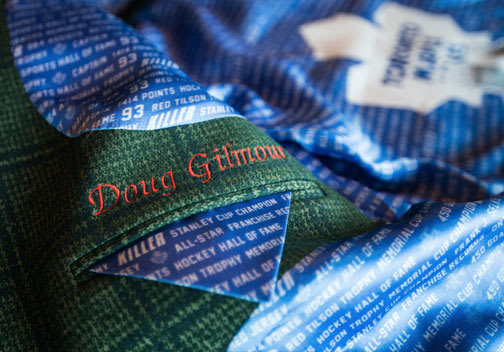 Custom Jacket Lining for Doug Gilmour