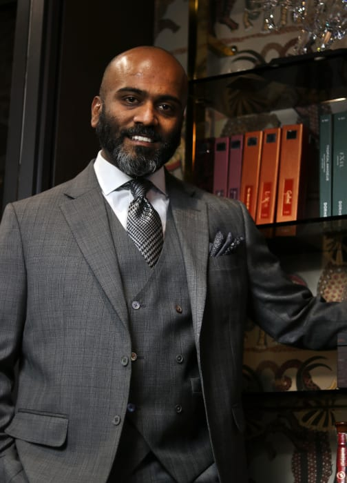 Kubes Navaratnam in a Custom Suit from King & Bay
