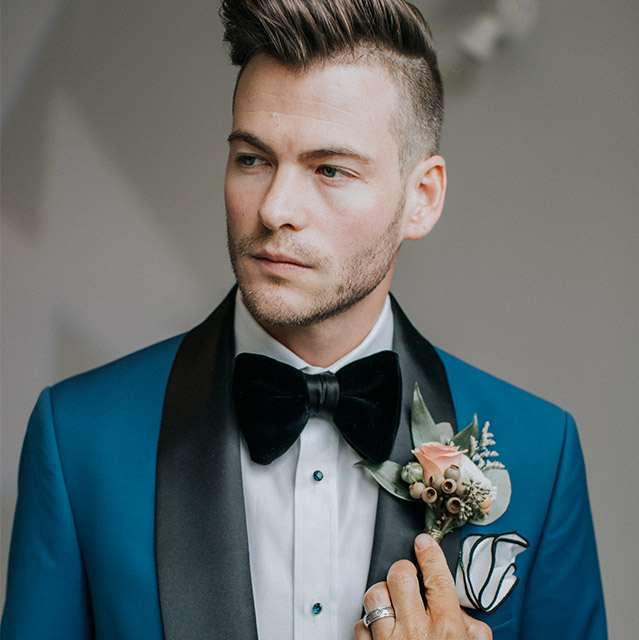Custom Wedding Party Suits from King & Bay, Toronto
